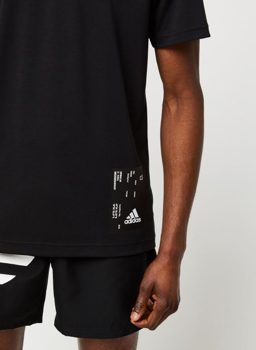 Vêtements adidas performance M Tech Tee Noir vue face
