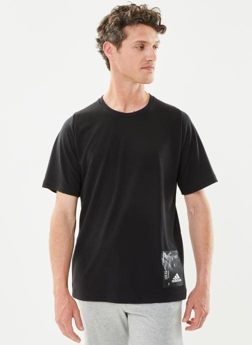 Vêtements adidas performance M Tech Tee Noir vue détail/paire