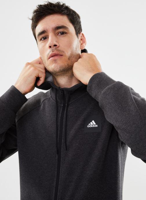 Kleding adidas performance Mhe Fz Sta Zwart voorkant