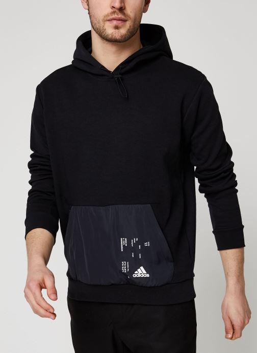 Vêtements adidas performance Tech Hoodie Noir vue détail/paire