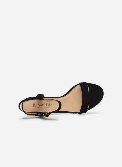 Sandales et nu-pieds JB MARTIN MALINA Noir vue gauche