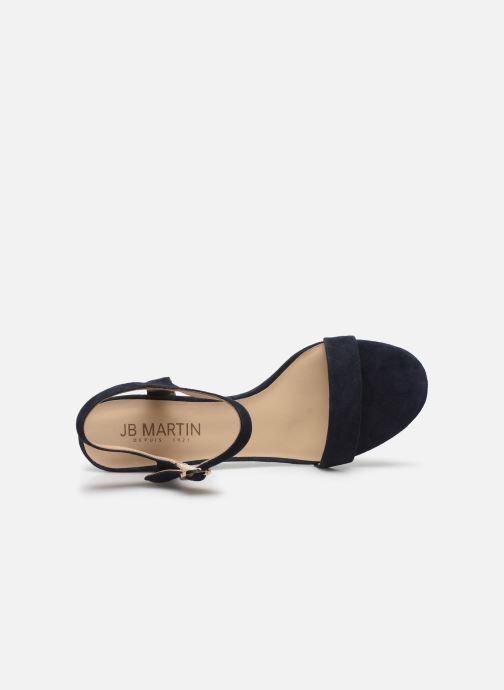 Sandales et nu-pieds JB MARTIN MALINA Bleu vue gauche