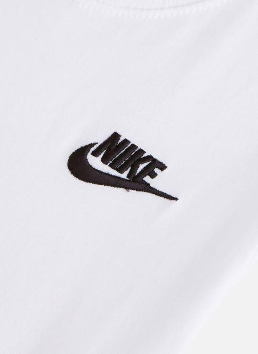 Vêtements Nike Nike Sportswear Tee Emb Futura Blanc vue portées chaussures