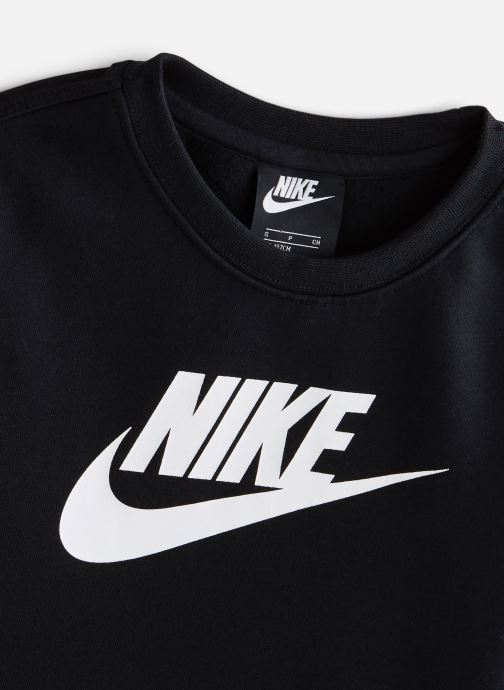 Vêtements Nike Nike Sportswear Club Fleece + Hbr Crew Noir vue portées chaussures