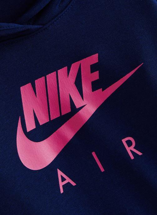 Vêtements Nike Nike Air Crop Hoodie Bleu vue portées chaussures