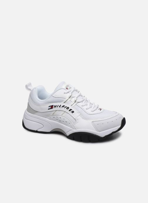 Baskets Tommy Hilfiger HERITAGE TOMMY JEANS RUNNER Blanc vue détail/paire