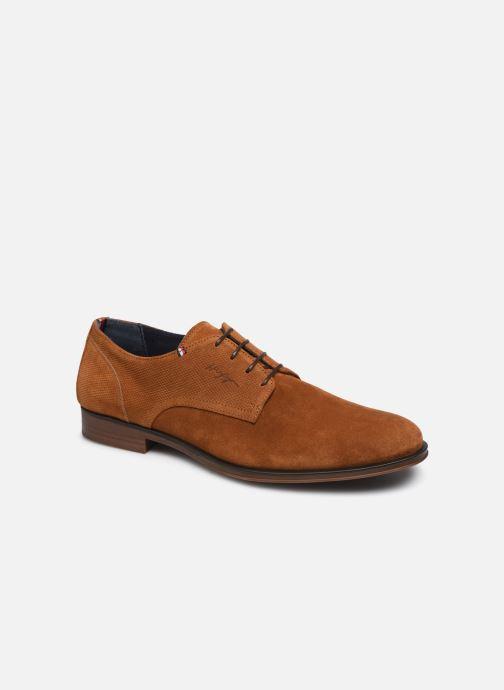 Chaussures à lacets Tommy Hilfiger CASUAL EMBOSSED SUEDE SHOE Vert vue détail/paire