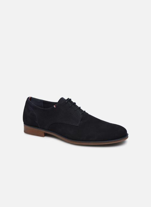 Chaussures à lacets Tommy Hilfiger CASUAL EMBOSSED SUEDE SHOE Bleu vue détail/paire