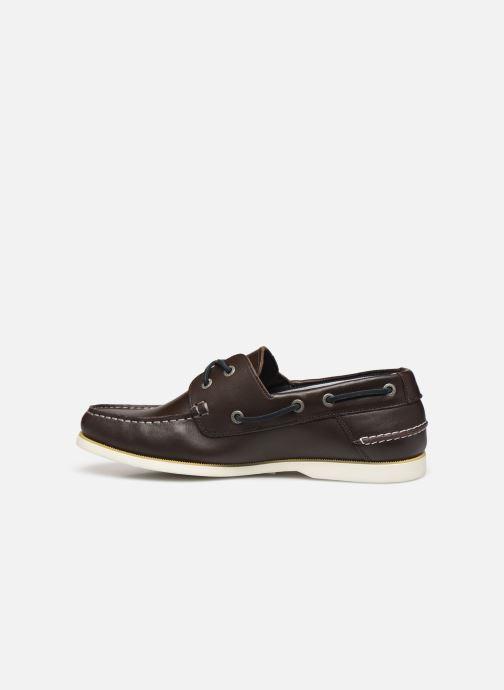 Chaussures à lacets Tommy Hilfiger CLASSIC LEATHER BOATSHOE Marron vue face