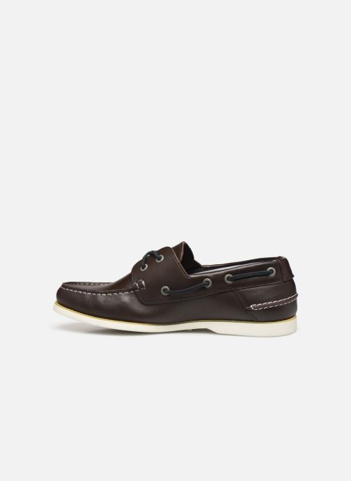 Chaussures à lacets Tommy Hilfiger CLASSIC LEATHER BOATSHOE Marron vue face
