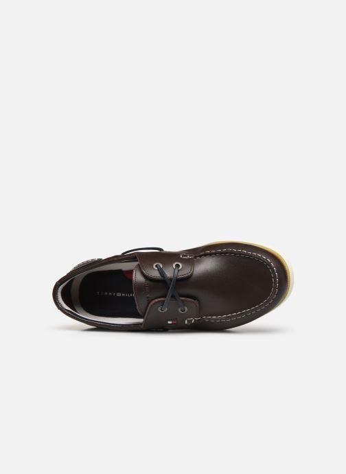Chaussures à lacets Tommy Hilfiger CLASSIC LEATHER BOATSHOE Marron vue gauche