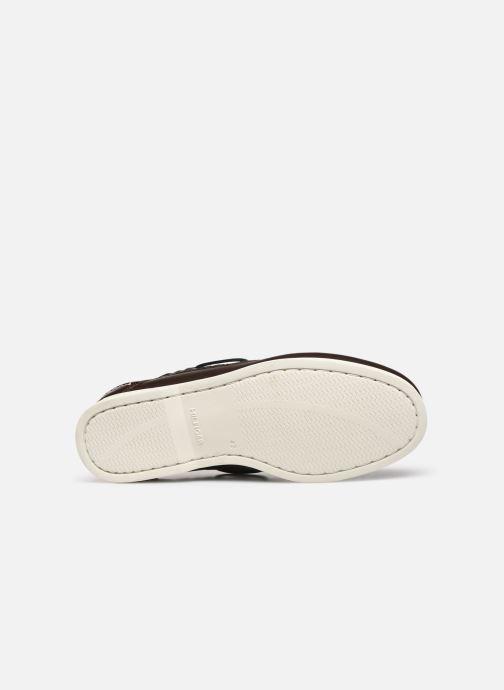 Chaussures à lacets Tommy Hilfiger CLASSIC LEATHER BOATSHOE Marron vue haut