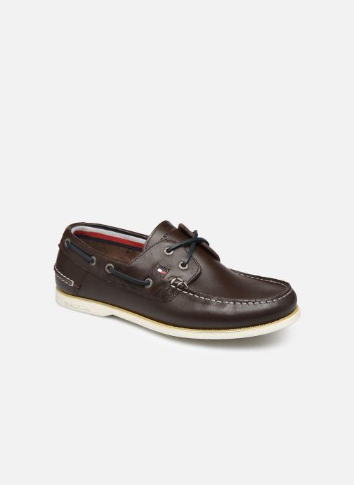 Chaussures à lacets Tommy Hilfiger CLASSIC LEATHER BOATSHOE Marron vue détail/paire