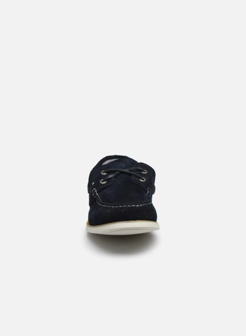 Chaussures à lacets Tommy Hilfiger CLASSIC LEATHER BOATSHOE Bleu vue portées chaussures