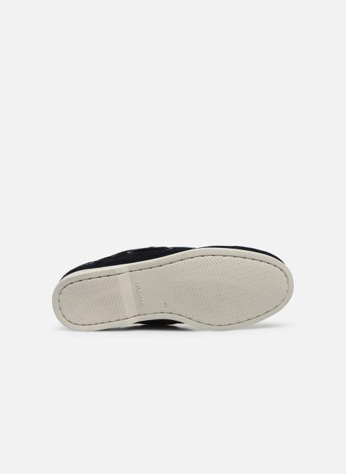 Chaussures à lacets Tommy Hilfiger CLASSIC LEATHER BOATSHOE Bleu vue haut