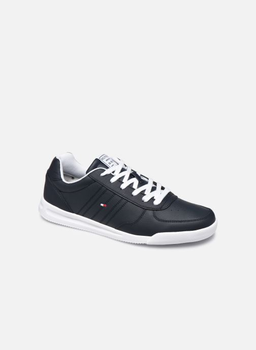 Trainers Tommy Hilfiger LIGHTWEIGHT LEATHER SNEAKER FLAG Blue detailed view/ Pair view