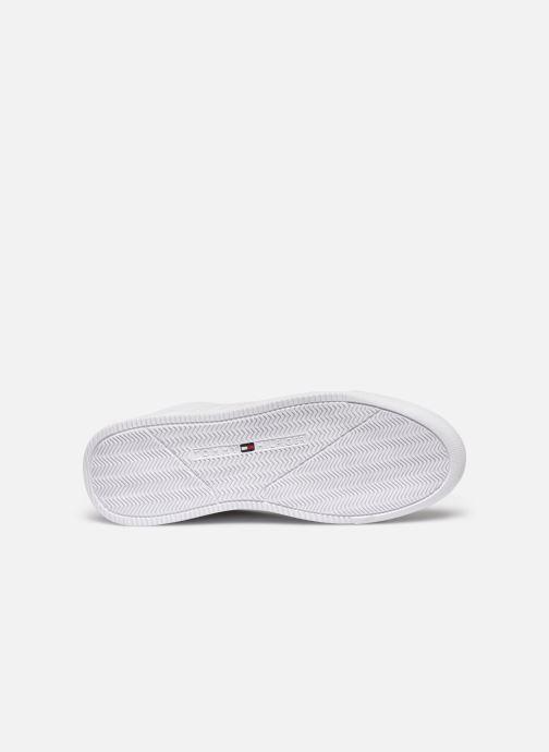 Sneaker Tommy Hilfiger LIGHTWEIGHT LEATHER SNEAKER FLAG weiß ansicht von oben