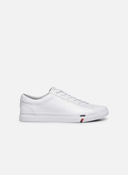 Baskets Tommy Hilfiger CORPORATE LEATHER SNEAKER Blanc vue derrière