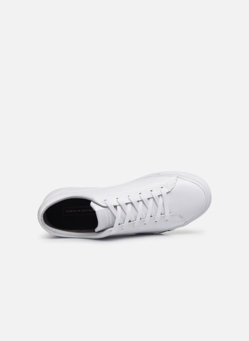Baskets Tommy Hilfiger CORPORATE LEATHER SNEAKER Blanc vue gauche