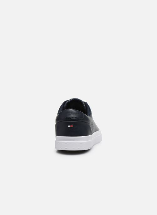 Trainers Tommy Hilfiger CORPORATE LEATHER SNEAKER Blue view from the right