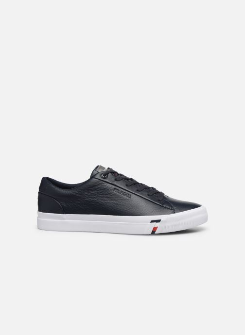 Trainers Tommy Hilfiger CORPORATE LEATHER SNEAKER Blue back view