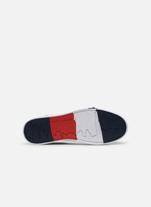 Trainers Tommy Hilfiger CORPORATE LEATHER SNEAKER Blue view from above
