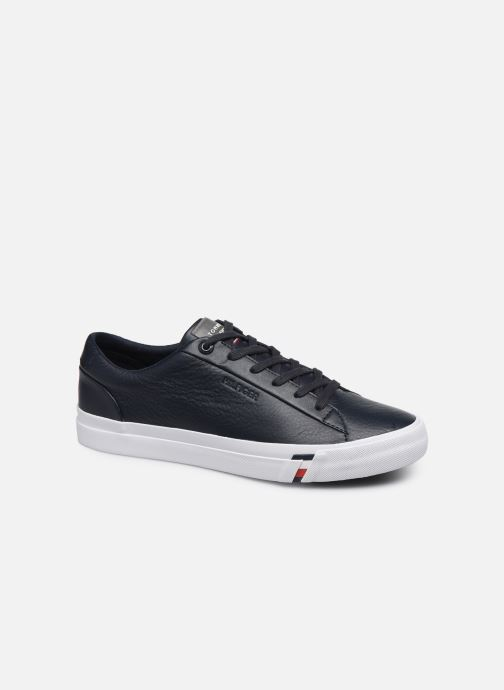 Trainers Tommy Hilfiger CORPORATE LEATHER SNEAKER Blue detailed view/ Pair view