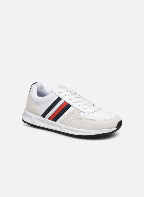 Trainers Tommy Hilfiger MODERN CORPORATE LEATHER RUNNER White detailed view/ Pair view
