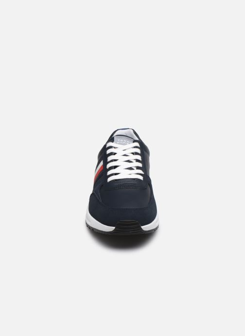 Baskets Tommy Hilfiger MODERN CORPORATE LEATHER RUNNER Bleu vue portées chaussures