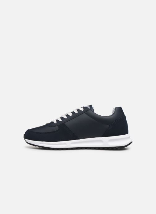 Trainers Tommy Hilfiger MODERN CORPORATE LEATHER RUNNER Blue front view