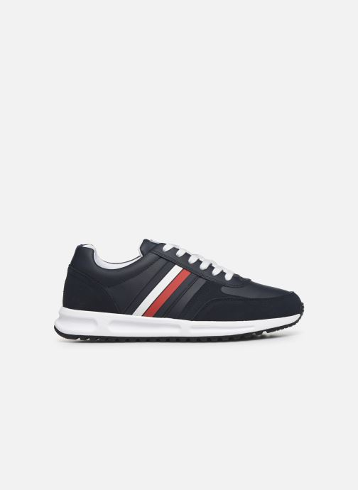 Trainers Tommy Hilfiger MODERN CORPORATE LEATHER RUNNER Blue back view