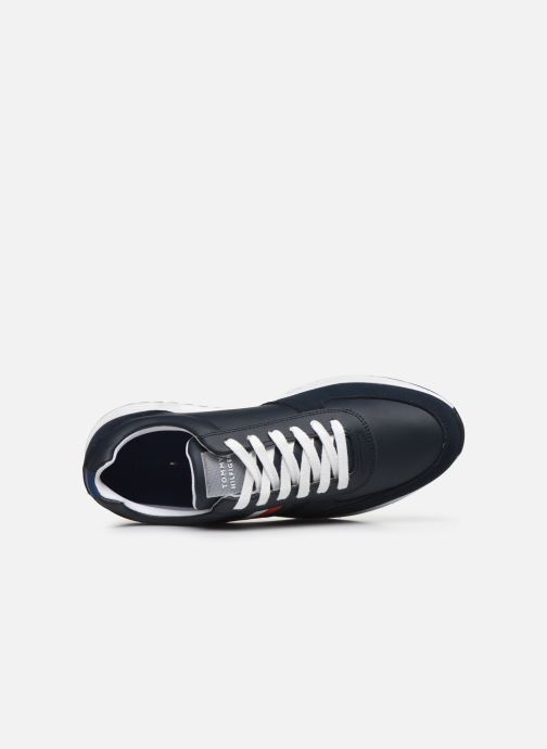Trainers Tommy Hilfiger MODERN CORPORATE LEATHER RUNNER Blue view from the left
