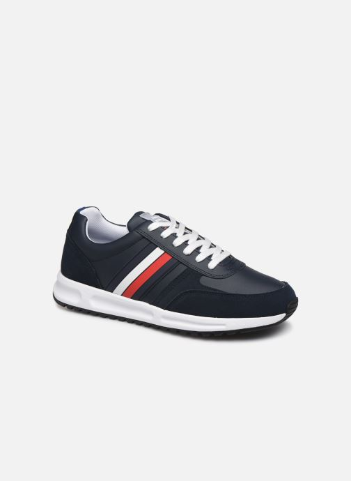 Trainers Tommy Hilfiger MODERN CORPORATE LEATHER RUNNER Blue detailed view/ Pair view
