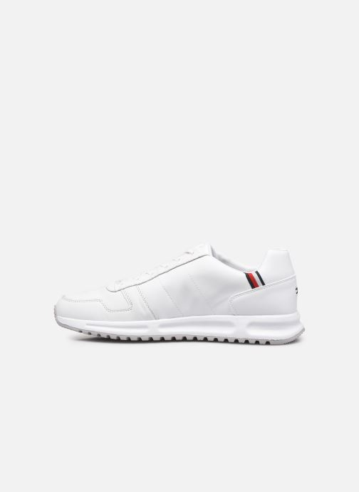 Sneakers Tommy Hilfiger MODERN CORPORATE LEATHER RUNNER Bianco immagine frontale