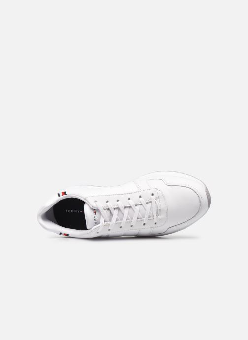 Sneakers Tommy Hilfiger MODERN CORPORATE LEATHER RUNNER Bianco immagine sinistra