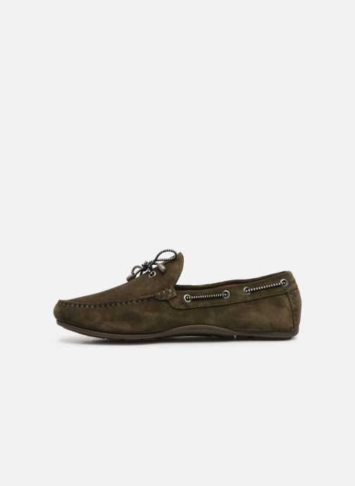 Chaussures à lacets Tommy Hilfiger SUEDE INTERLACE LOAFER Vert vue face