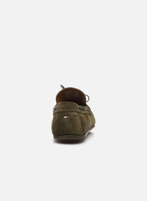 Chaussures à lacets Tommy Hilfiger SUEDE INTERLACE LOAFER Vert vue droite