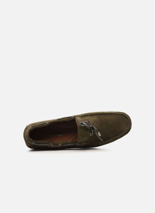 Chaussures à lacets Tommy Hilfiger SUEDE INTERLACE LOAFER Vert vue gauche