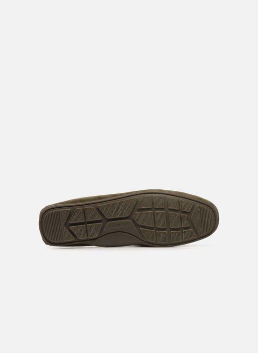 Chaussures à lacets Tommy Hilfiger SUEDE INTERLACE LOAFER Vert vue haut