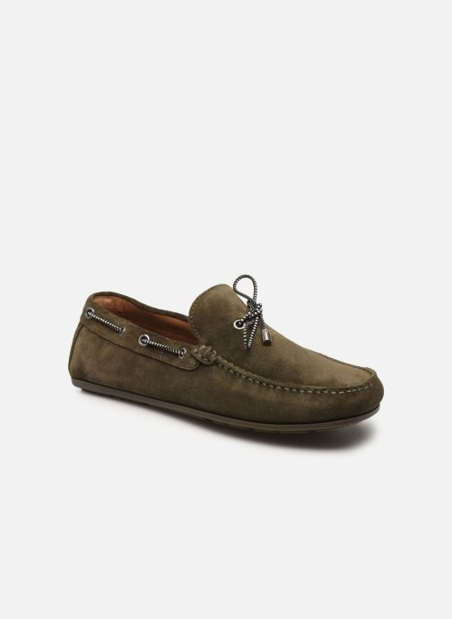 Chaussures à lacets Tommy Hilfiger SUEDE INTERLACE LOAFER Vert vue détail/paire