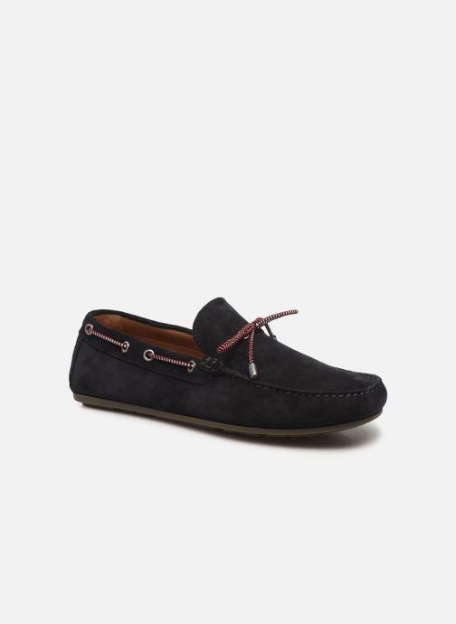 Chaussures à lacets Tommy Hilfiger SUEDE INTERLACE LOAFER Bleu vue détail/paire
