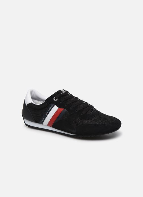 Baskets Tommy Hilfiger ESSENTIAL MESH RUNNER Noir vue détail/paire