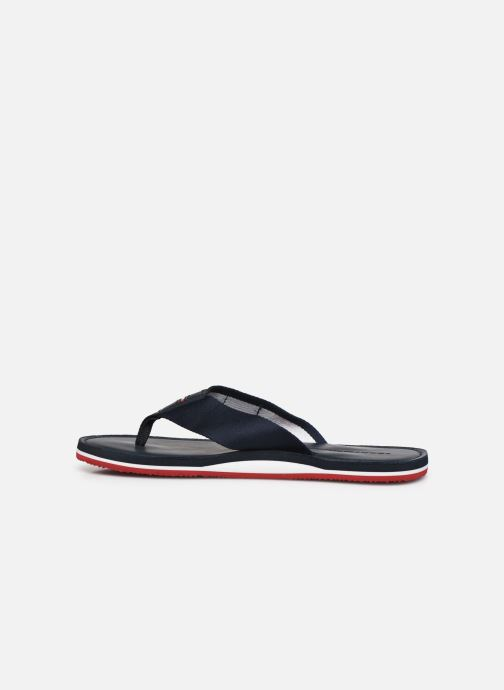 Tongs Tommy Hilfiger ELEVATED TH LEATHER BEACH SANDAL Bleu vue face