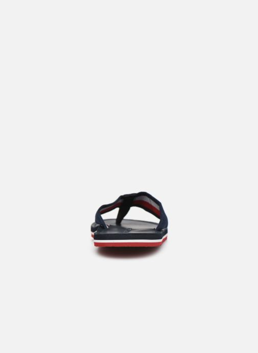 Tongs Tommy Hilfiger ELEVATED TH LEATHER BEACH SANDAL Bleu vue droite