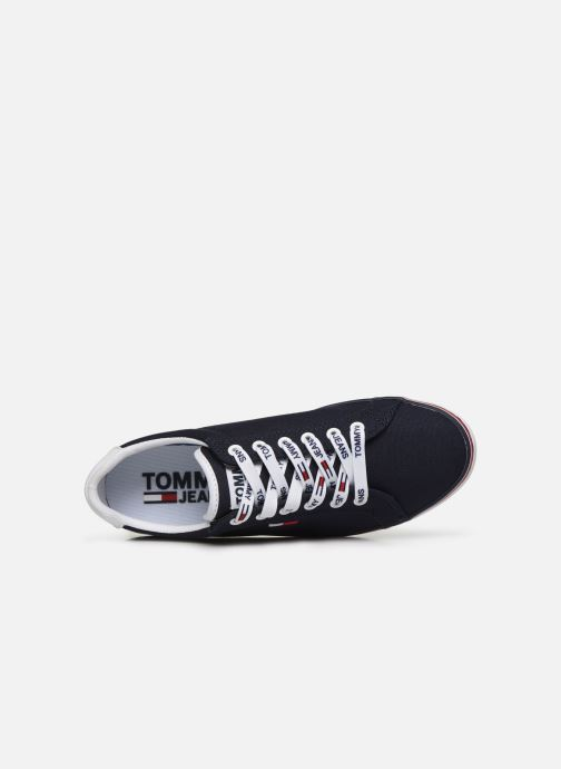 Baskets Tommy Hilfiger ESSENTIAL LACE UP SNEAKER Bleu vue gauche