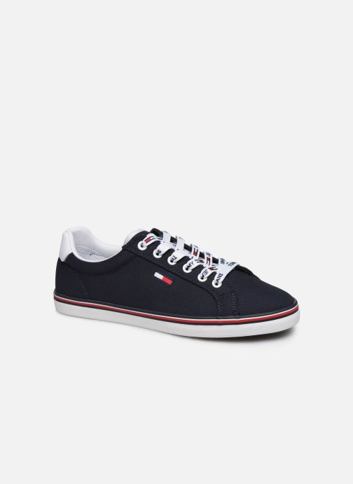 Baskets Tommy Hilfiger ESSENTIAL LACE UP SNEAKER Bleu vue détail/paire