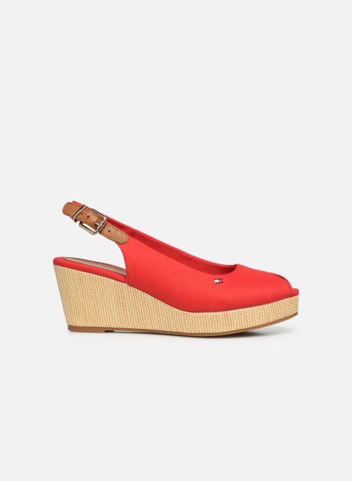 Sandales et nu-pieds Tommy Hilfiger ICONIC ELBA SLING BACK WEDGE Rouge vue derrière