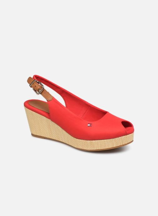 Sandales et nu-pieds Tommy Hilfiger ICONIC ELBA SLING BACK WEDGE Rouge vue détail/paire