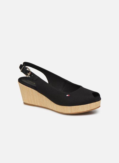 Sandales et nu-pieds Tommy Hilfiger ICONIC ELBA SLING BACK WEDGE Noir vue détail/paire