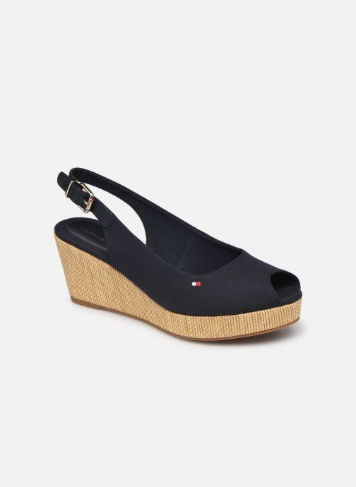 Sandales et nu-pieds Tommy Hilfiger ICONIC ELBA SLING BACK WEDGE Bleu vue détail/paire
